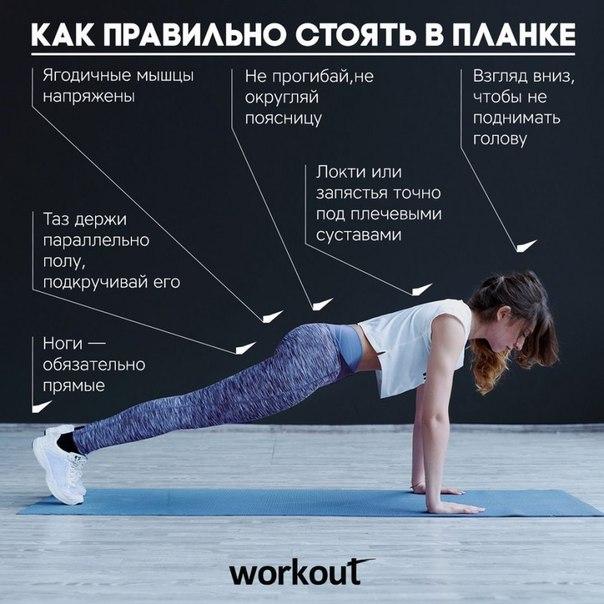 Планка для похудения для начинающих таблица фото