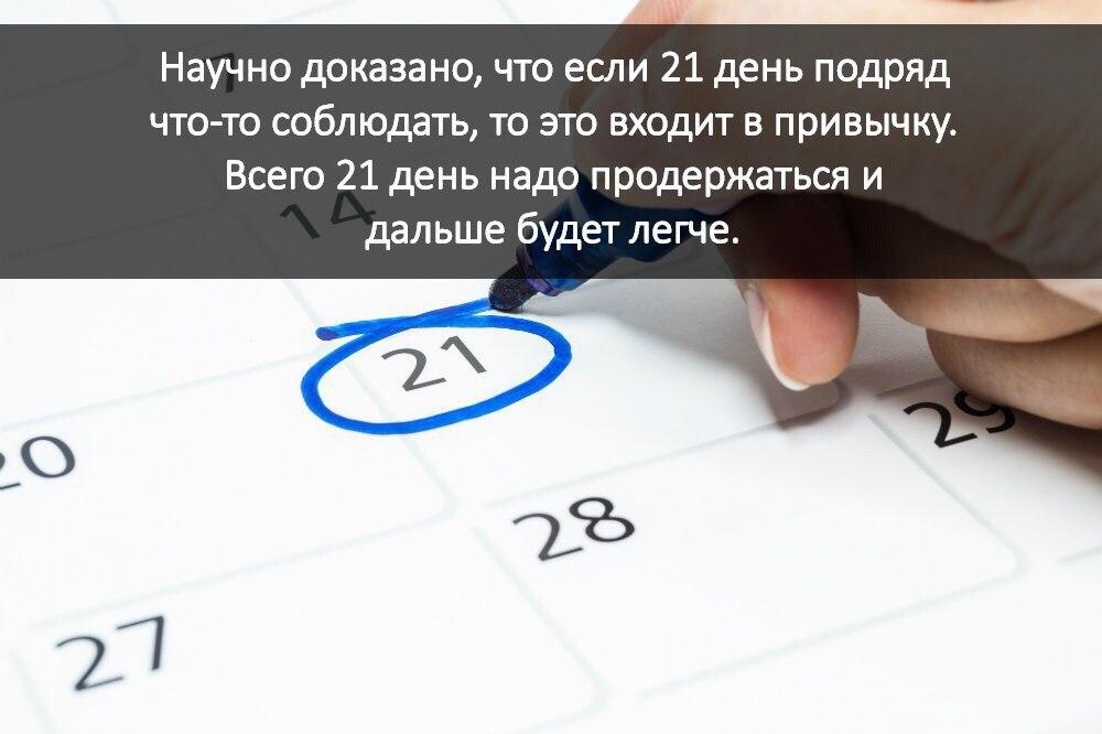 Формируется ли привычка за 21 день?