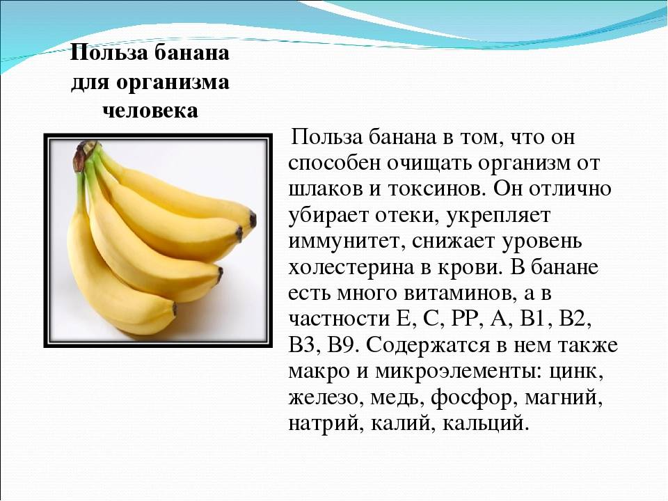 Банан: состав и полезные свойства, калорийность