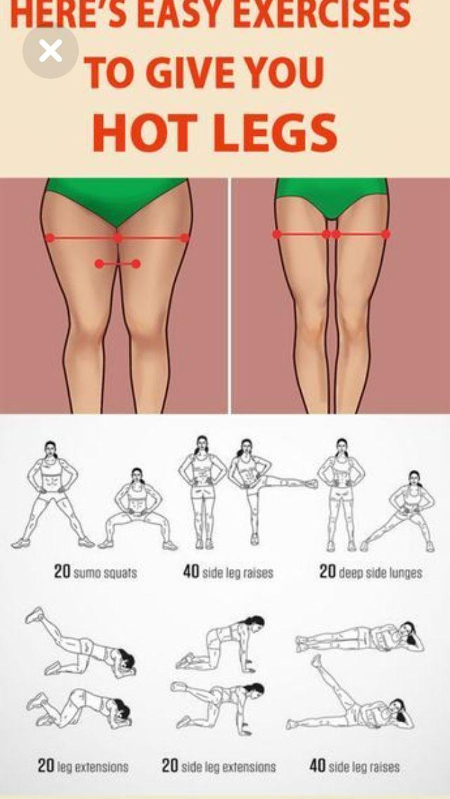 Как сделать ноги худыми и стройными: упражнения и диета