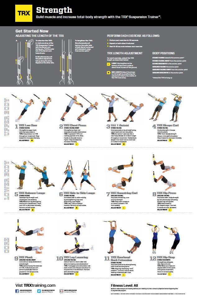 Петли trx: особенности выполнения базовых упражнений и спортивных программ