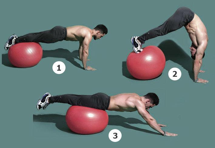 Худеем: гимнастический ролик - упражнения и какие мышцы работают