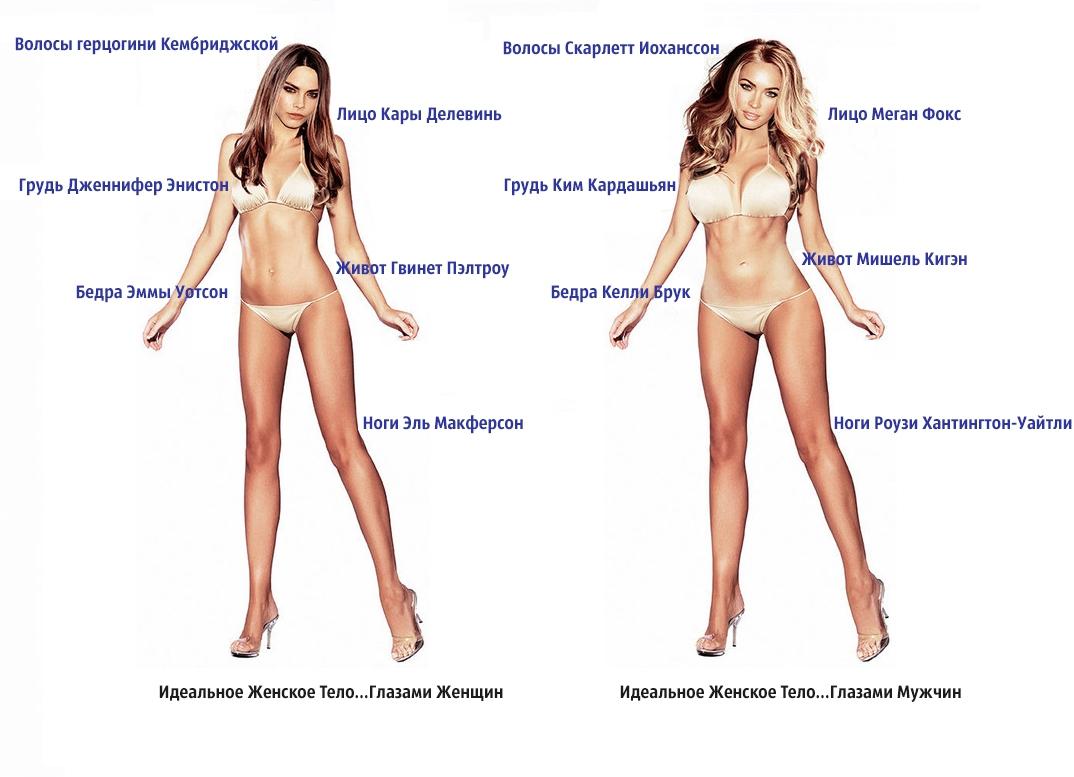 Какие части тела нравятся девушкам в парнях