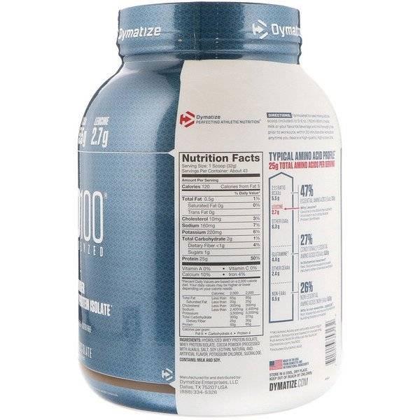 Правила приёма протеина iso 100 от dymatize для наращивания мышечной массы