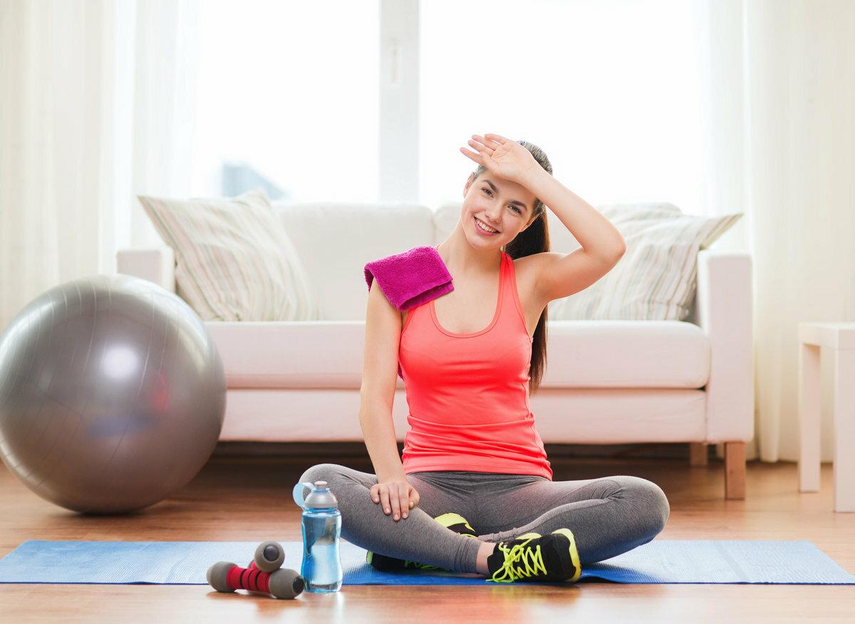 Фитнес дома упражнения - комплекс физических упражнений для домашнего фитнеса
