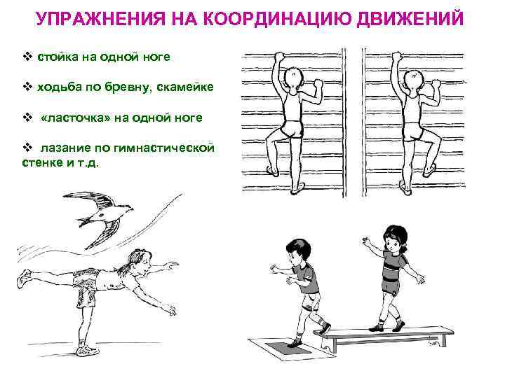 Упражнения для развития координации движений и ловкости