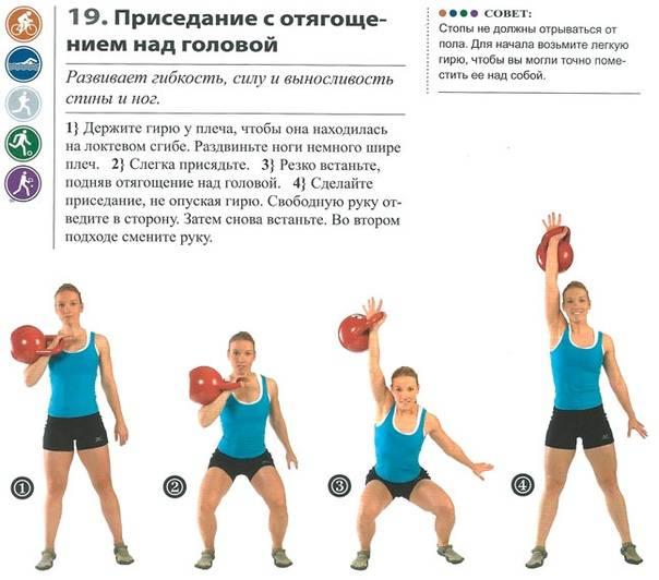 Лучшие упражнения с гирей на все группы мышц