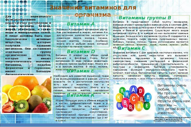 Какие существуют витамины: список основных витаминов, необходимых для организма человека каждый день