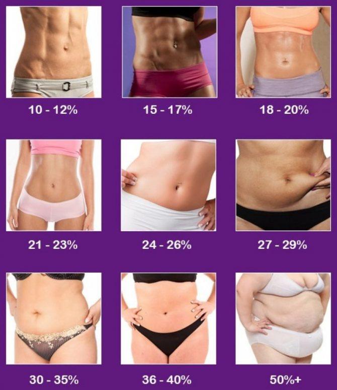 Как определить процент содержания жира в организме женщины и мужчины