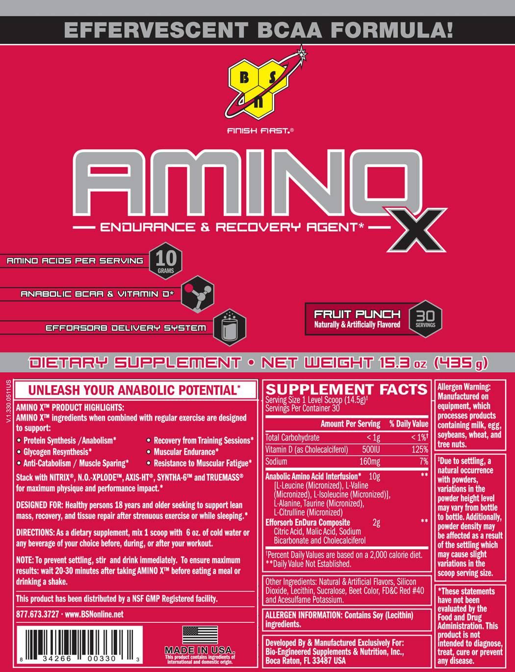 Amino x от bsn: как правильно принимать, состав и отзывы