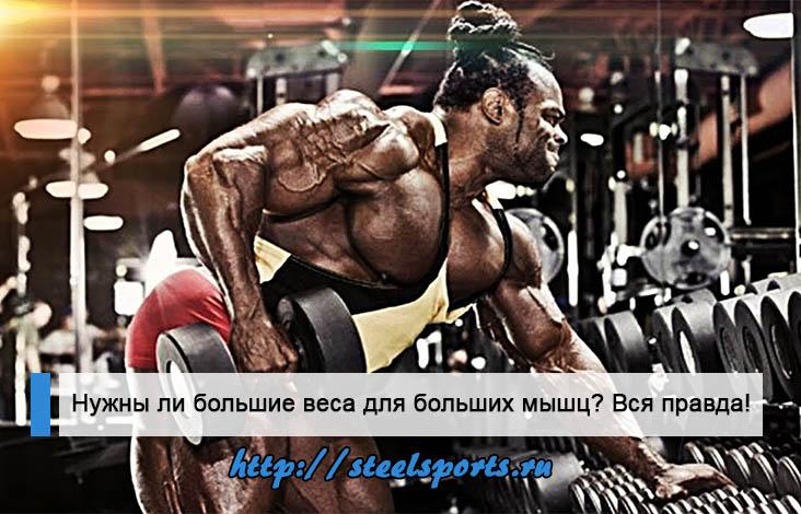 Нужны ли большие веса для больших мышц?