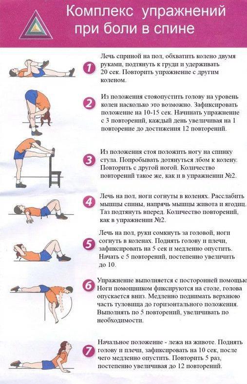 Гимнастика для спины при болях в пояснице - самые эффективные упражнения!
