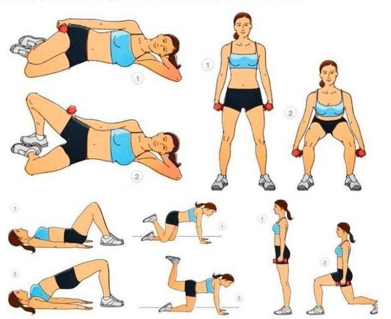 Эффективные упражнения для похудения ягодиц и бедер в домашних условиях