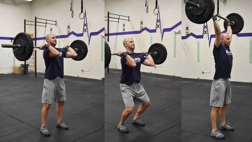 Жимовой швунг со штангой: техника выполнения, какие мышцы работают