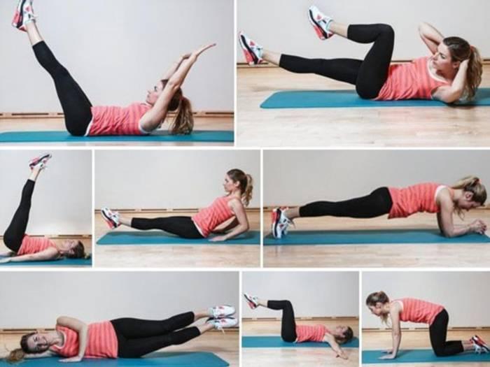 13 эффективных упражнений для плоского живота и тонкой талии в домашних условиях