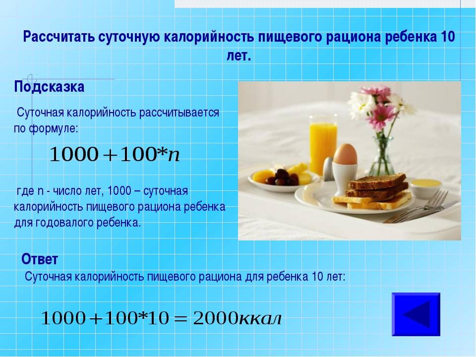 Норма килокалорий