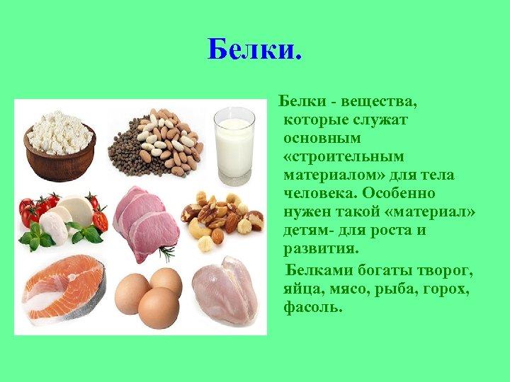 Белки: что такое и в каких продуктах содержатся