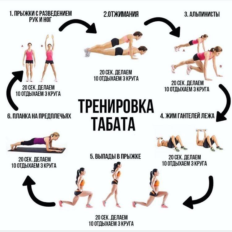 Табата тренировка и упражнения для похудения | women planet