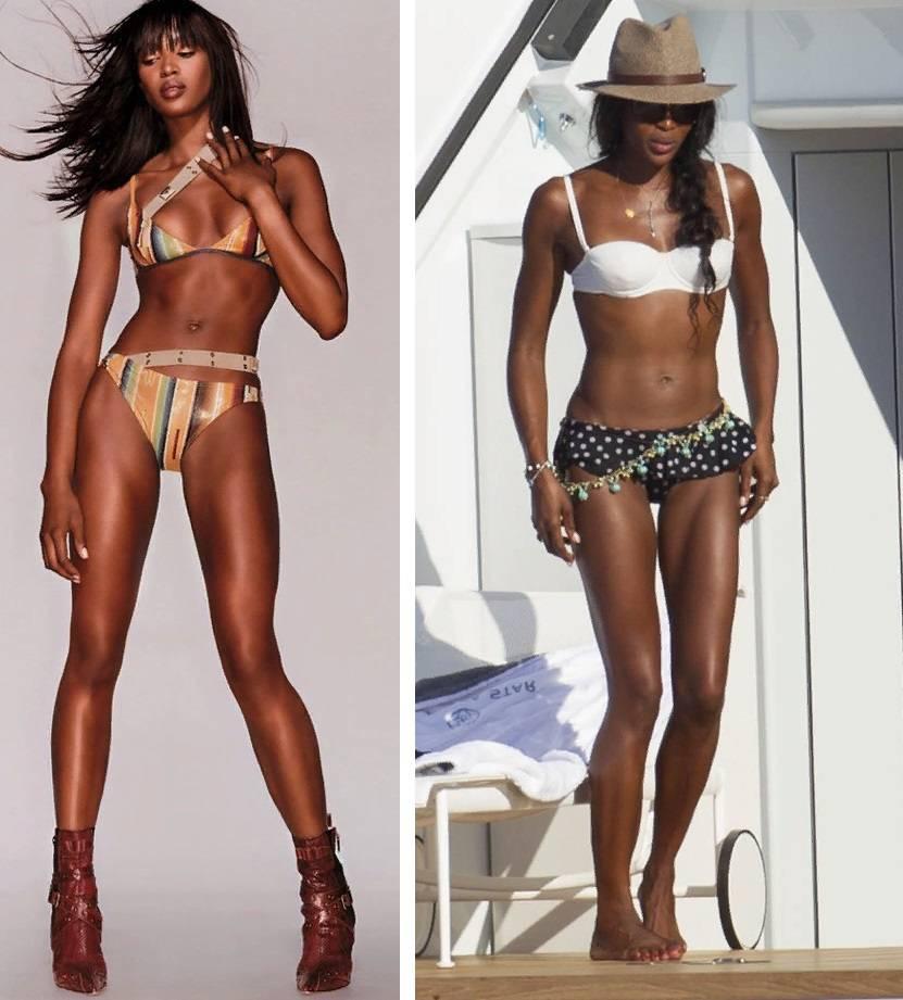 Тренировки Наоми Кэмпбелл и секреты поддержания идеального телосложения