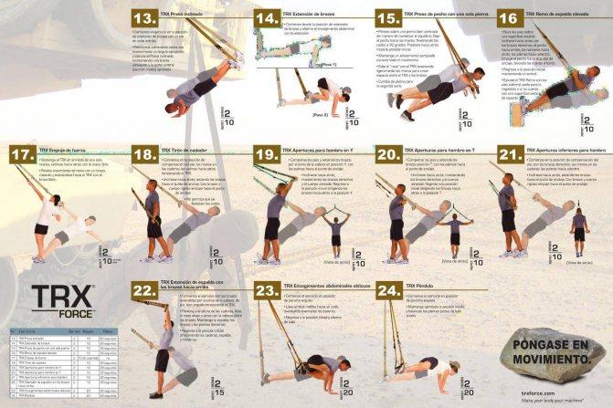 Петли trx: упражнения