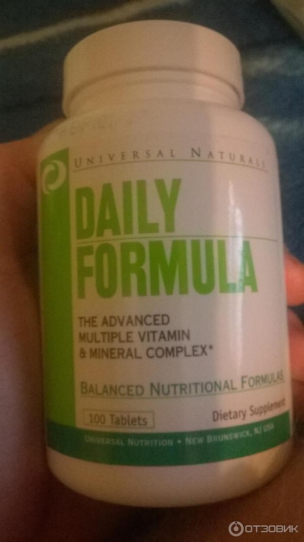 Витамины daily formula от universal nutrition: состав, как принимать, где купить