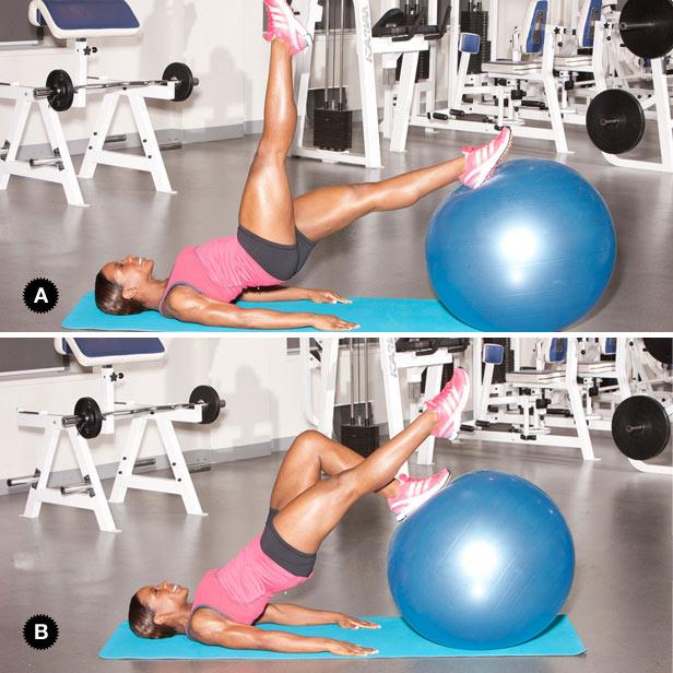 Упражнения на фитболе для похудения, спины и ягодиц