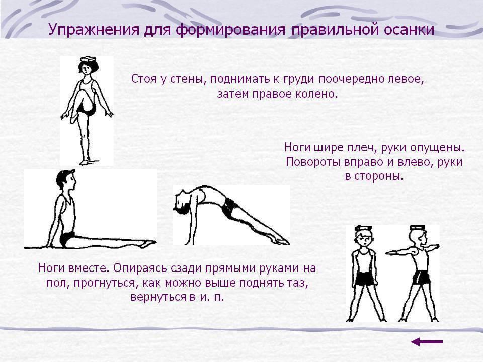 Упражнения для осанки для детей и подростков