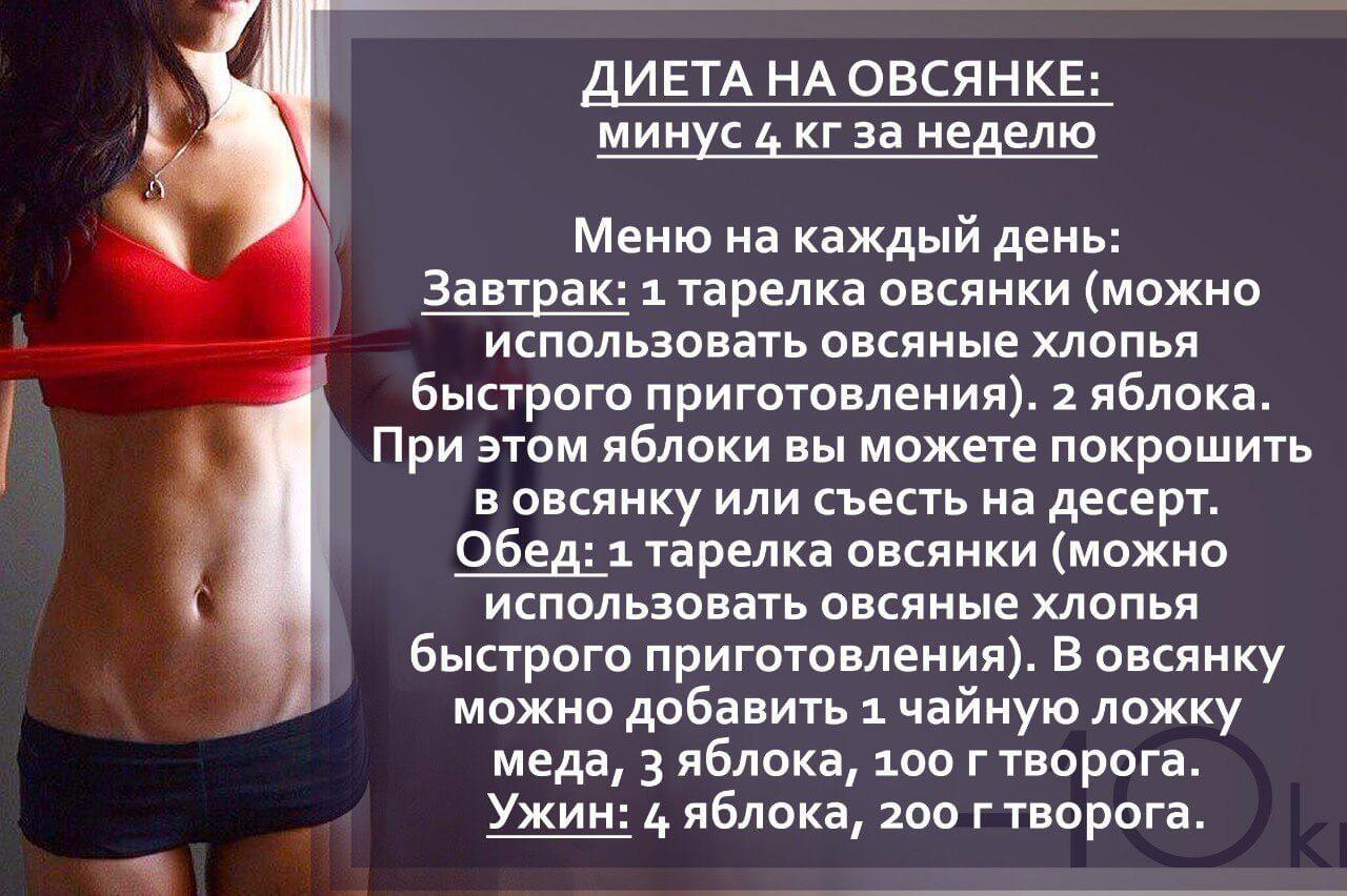 Как похудеть на 7 кг за 7 дней?