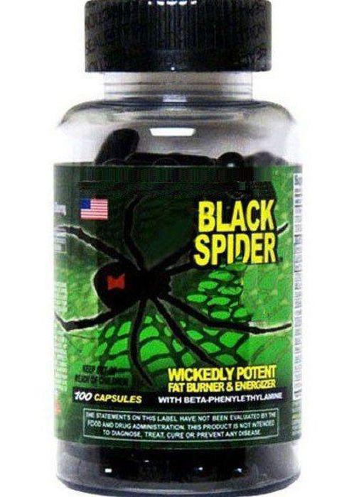 Жиросжигатель black spider 25 ephedra, как принимать, инструкция по применению, состав и отзывы