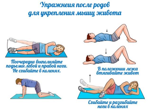 Упражнение чтобы убрать живот после родов. упражнения для укрепления и подтяжки живота после родов