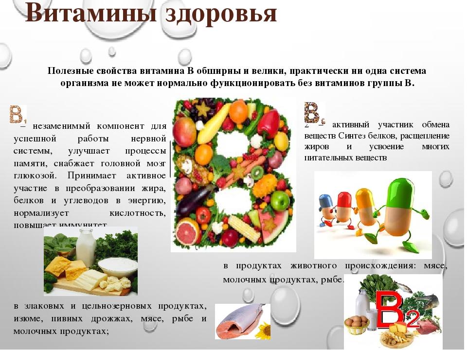 Витамины группы b - польза и содержание в продуктах
