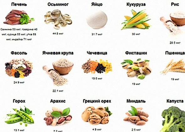В каких продуктах содержится меланин больше всего