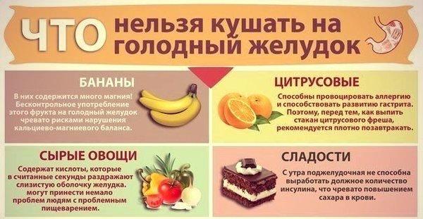 Какие продукты нельзя есть натощак