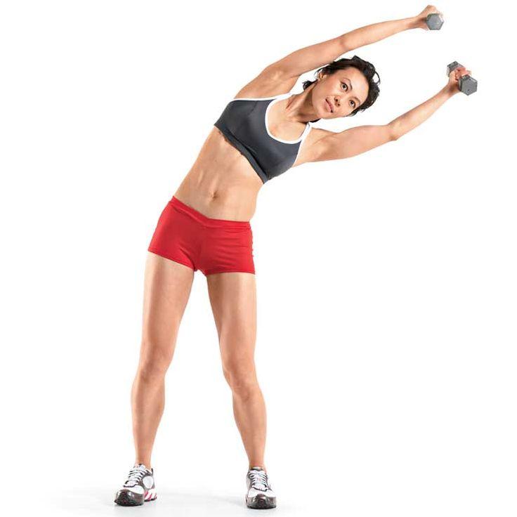 Наклоны в стороны с гантелями: видео и фото упражнения