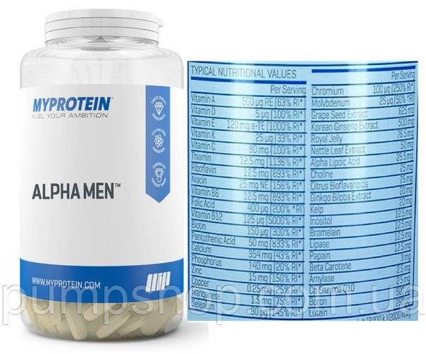 Alpha men multivitamin tablets