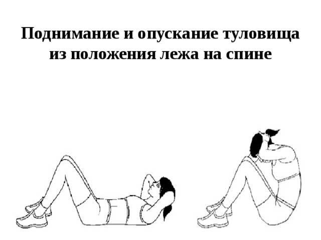 Подъем туловища из положения лежа - atletizm.com.ua