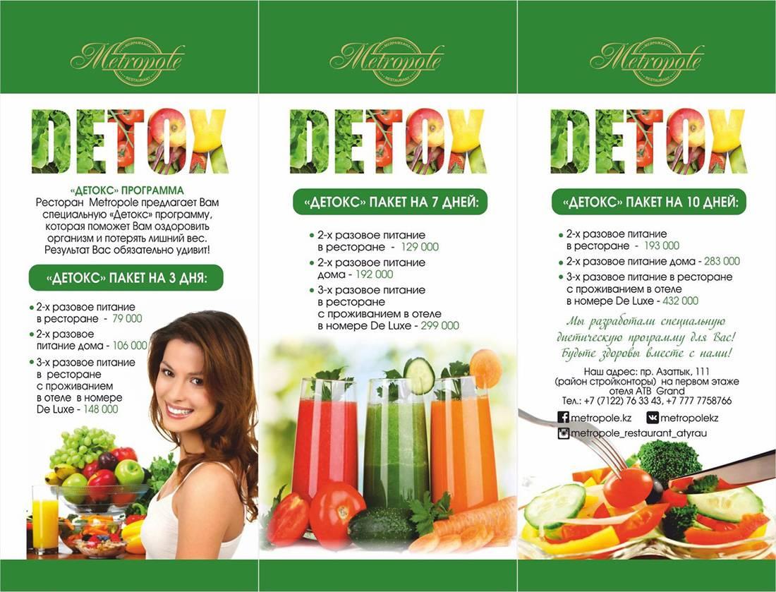 Детокс-диета в домашних условиях: программа очищения организма