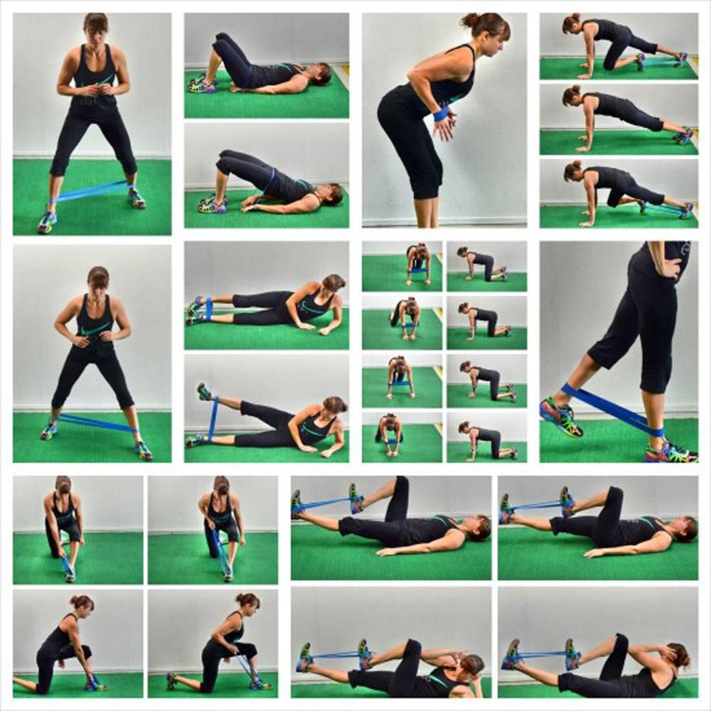 """Упражнения с резинкой для ног и ягодиц: тренировка в домашних условиях для женщин (с видео) — """"fito"""" — красота и здоровье"""