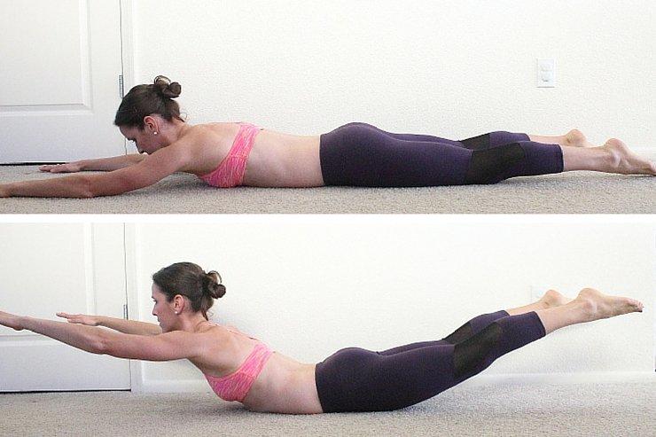 """Упражнение лодочка для спины: правильная техника выполнения (5 вариантов позы) — """"fito"""" — красота и здоровье"""