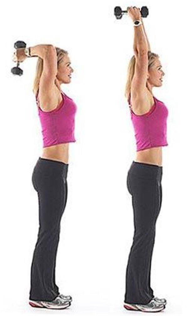 Комплекс упражнений на трицепс с гантелями для домашних условий