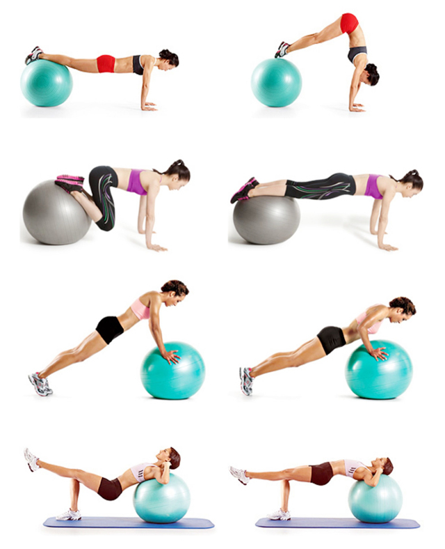 Упражнения на фитболе — самые эффективные упражнения для похудения и тренировок всех групп мышц (125 фото)