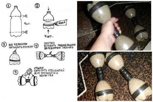 Штанга и гантели своими руками: чем заменить и как изготовить в домашних условиях   xn--90acxpqg.xn--p1ai