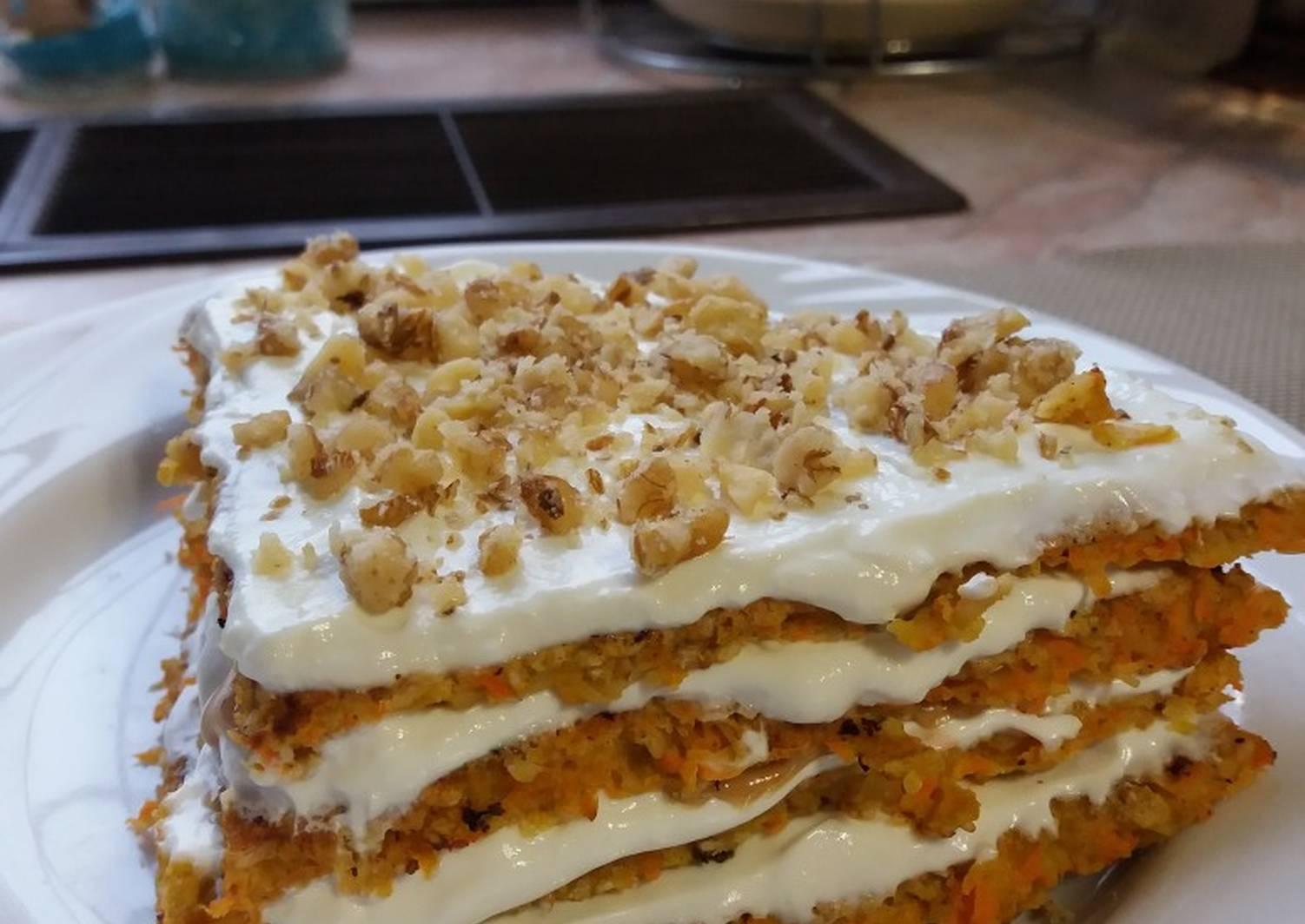 Морковный пп торт рецепт с фото. низкокалорийный торт | здоровое питание