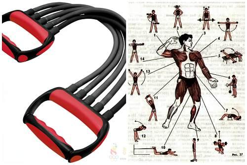 Упражнения с пружинным кистевым эспандером для мужчин