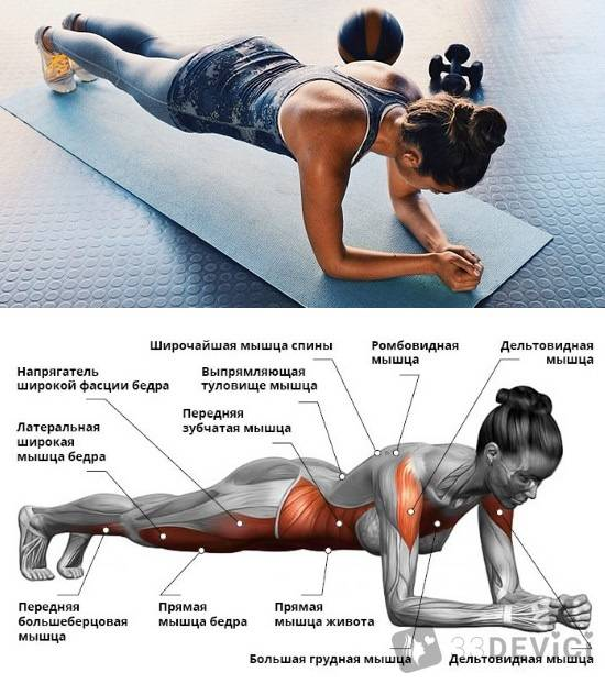 Упражнение планка — как делать правильно? 4 лучших вариации планки