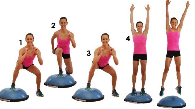 Упражнения на босу платформе