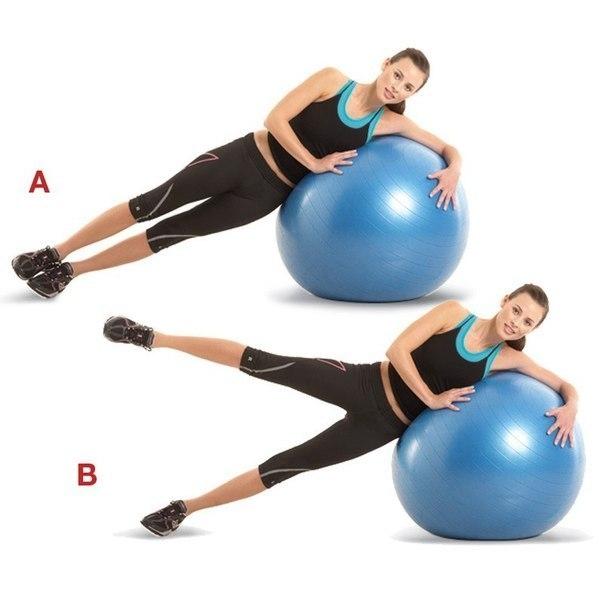 Комплекс упражнений для тренировки ног и ягодиц на фитболе