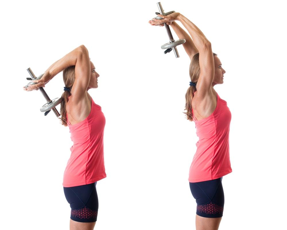 Упражнения на трицепс с гантелями для женщин - trainingbody