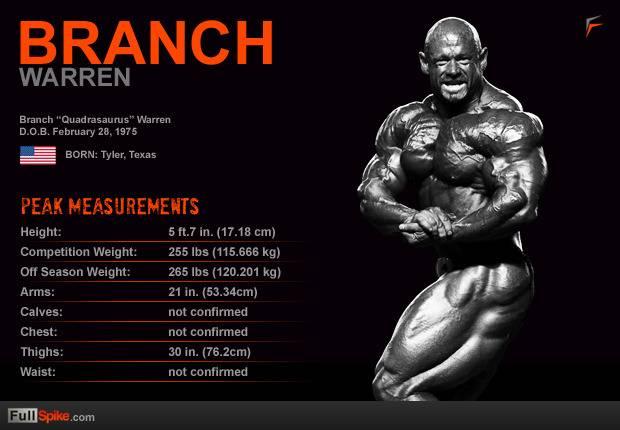 Бренч уоррен биография программа тренировок рост и вес