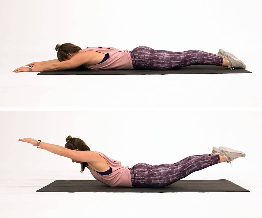 """Для спины и тела - упражнение """"лодочка"""""""